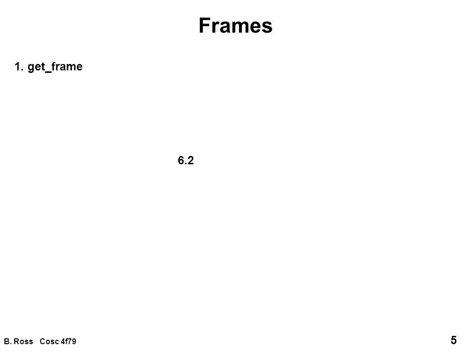 B.Ross Cosc 4f79 16 Frame integration 2.