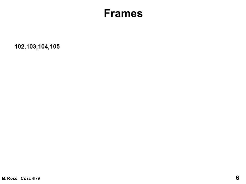 B.Ross Cosc 4f79 17 Frame integration 3.