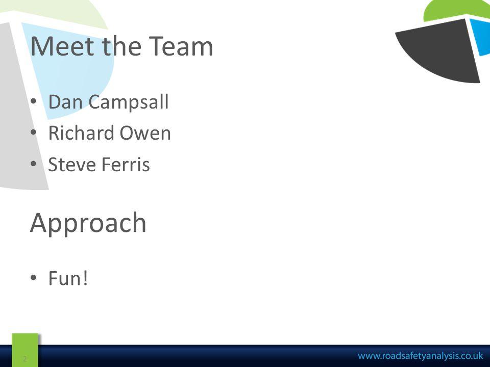 Meet the Team Dan Campsall Richard Owen Steve Ferris 2 Approach Fun!