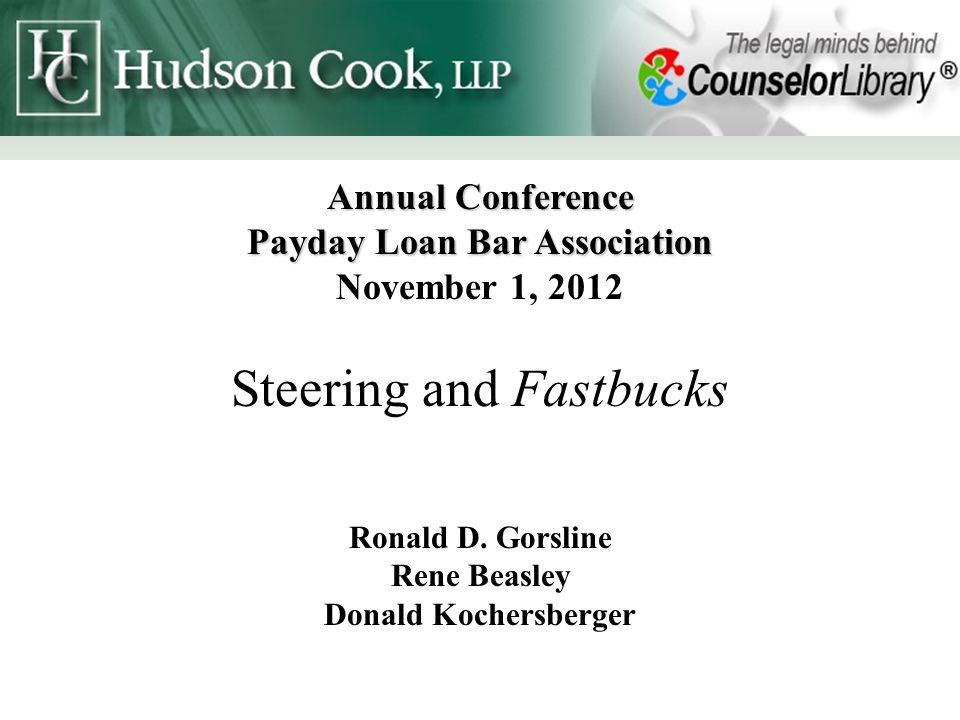 Contact Information Ronald Gorsline Hudson Cook, LLP 6005 Century Oaks Dr.
