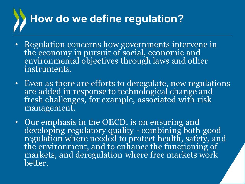 How do we define regulation.