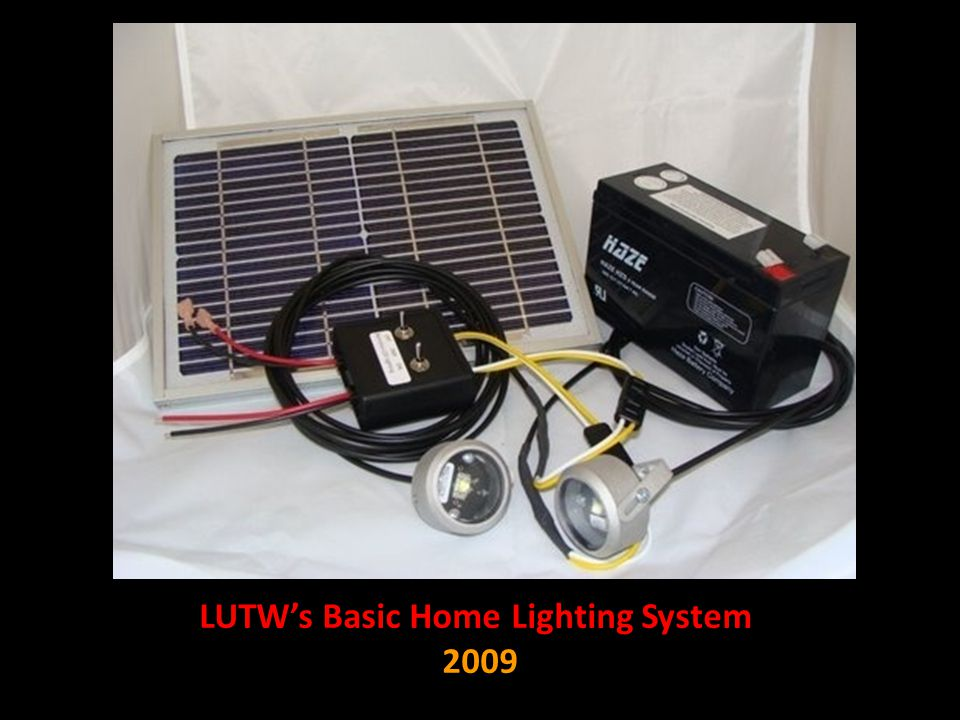 LUTW's Basic Home Lighting System 2009