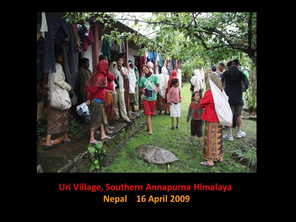 Uri Village, Southern Annapurna Himalaya Nepal 16 April 2009