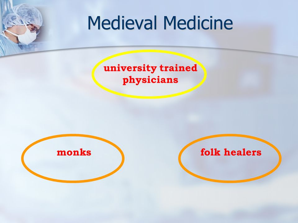 monksfolk healersuniversity trained physicians Medieval Medicine