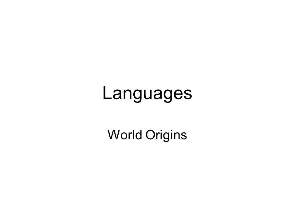 Languages World Origins