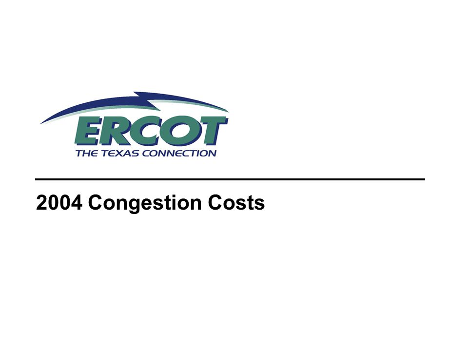2004 Congestion Costs