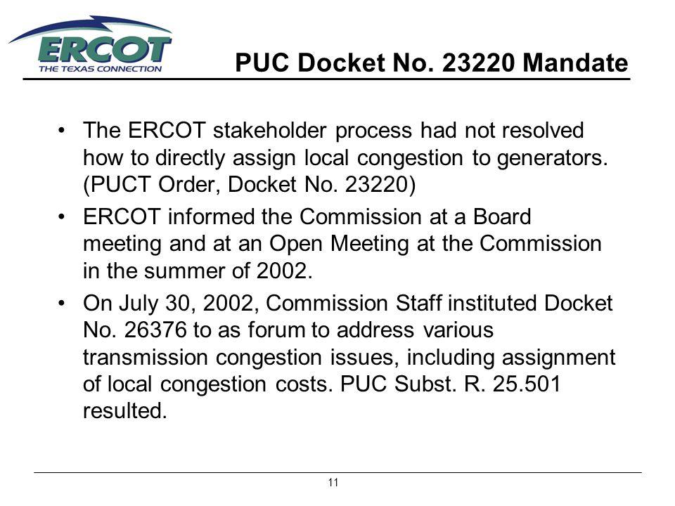11 PUC Docket No.