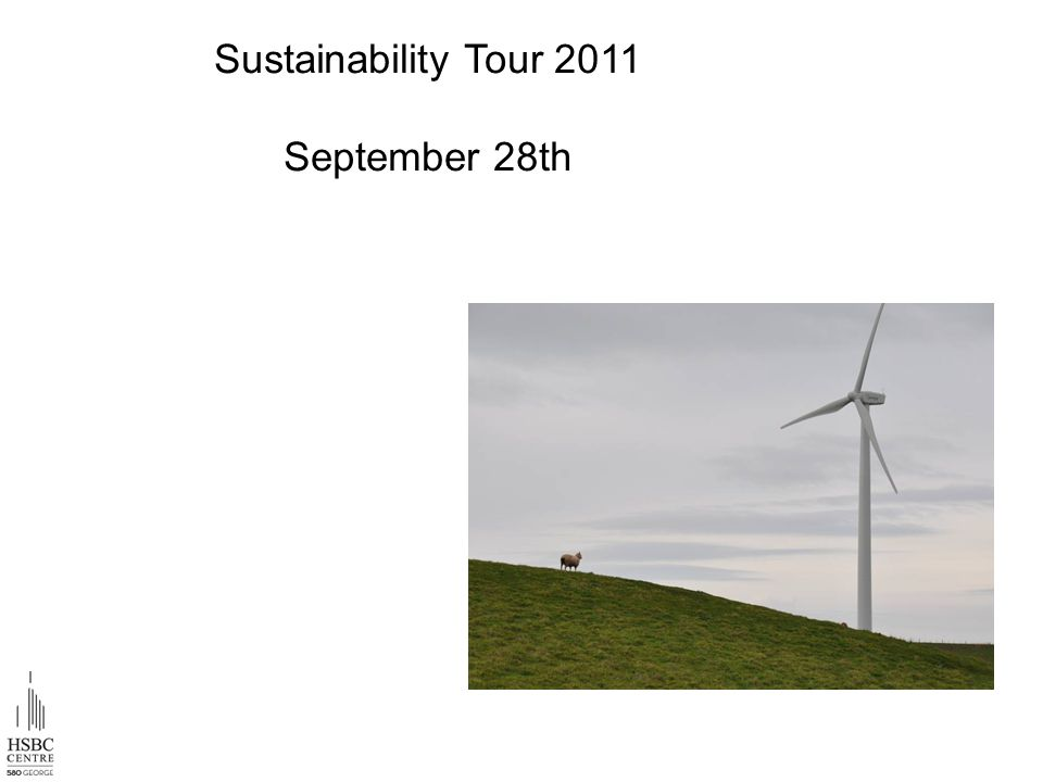 Sustainability Tour 2011 September 28th