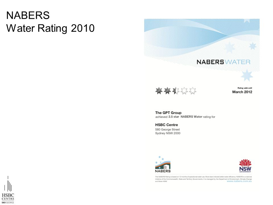 NABERS Water Rating 2010