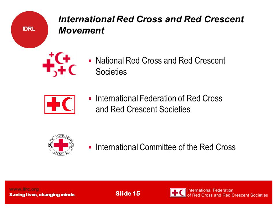 www.ifrc.org Saving lives, changing minds.