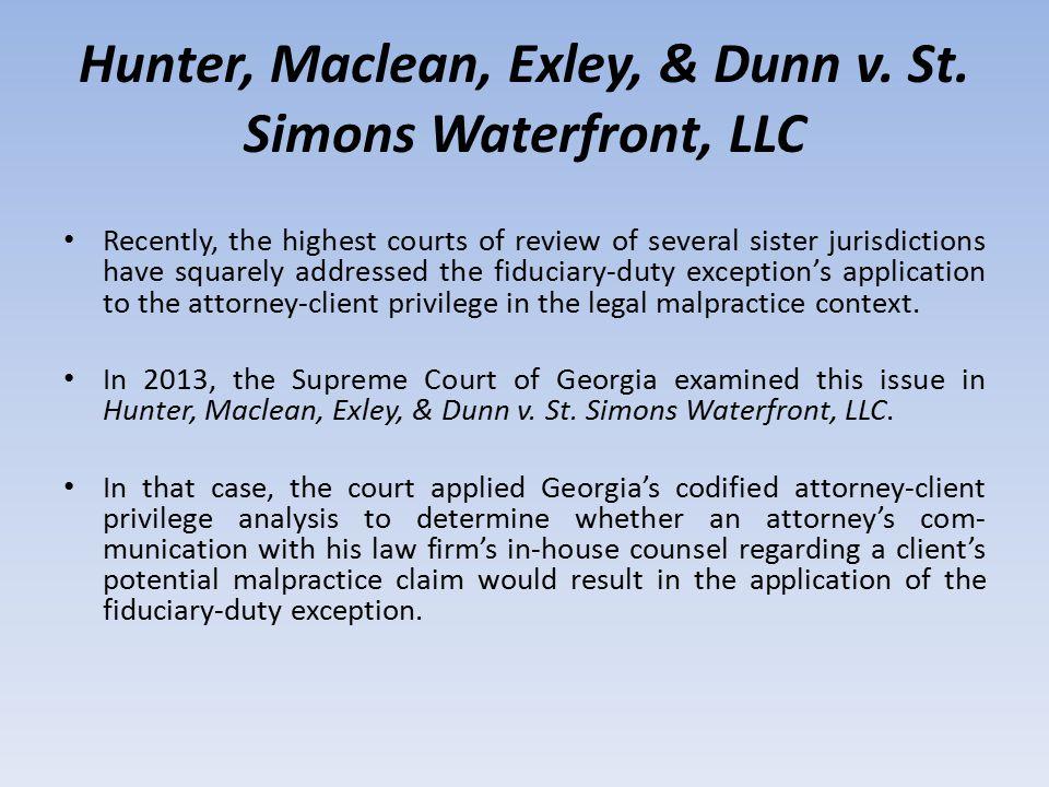 Hunter, Maclean, Exley, & Dunn v.St.