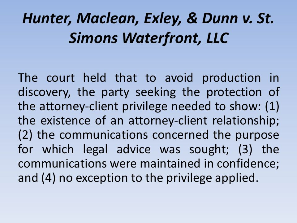 MANNER TO PROCEED Those factors included (a) whether the firm maintained a designated in-house attorney for purposes of handling the firm's malpractice claims; (b) whether the firm maintained separate files for the client's legal work and the firm's malpractice defense work; (c) whether the firm billed the client for the malpractice defense work or billed the defense work to the file; and (d) whether the in-house attorney designated to handle the malpractice claim for the firm had worked for the client.