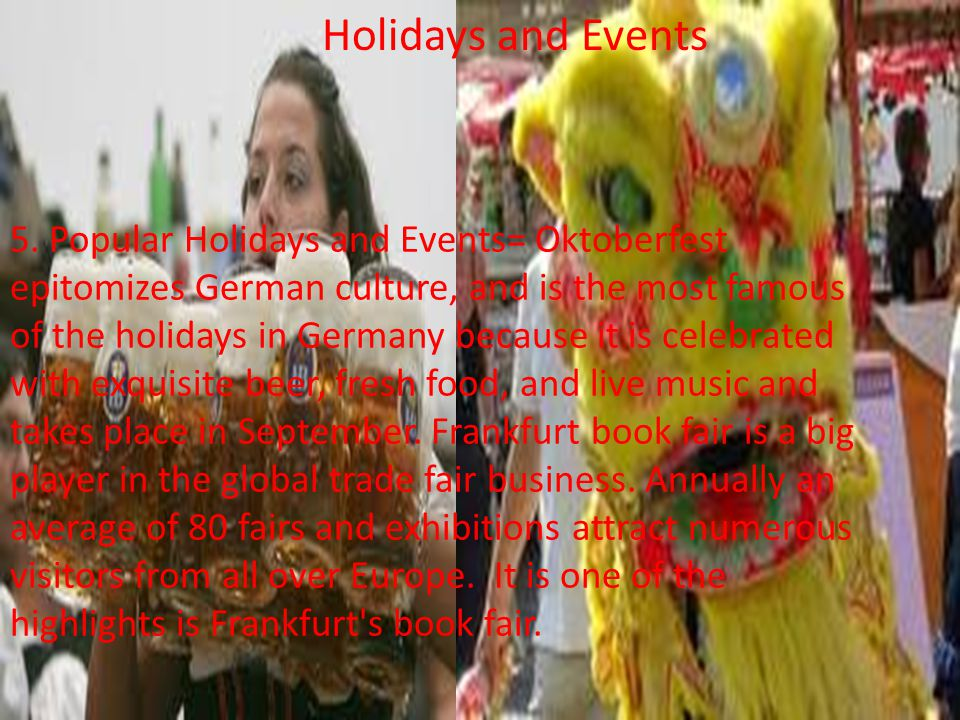 Holidays and Events 5.