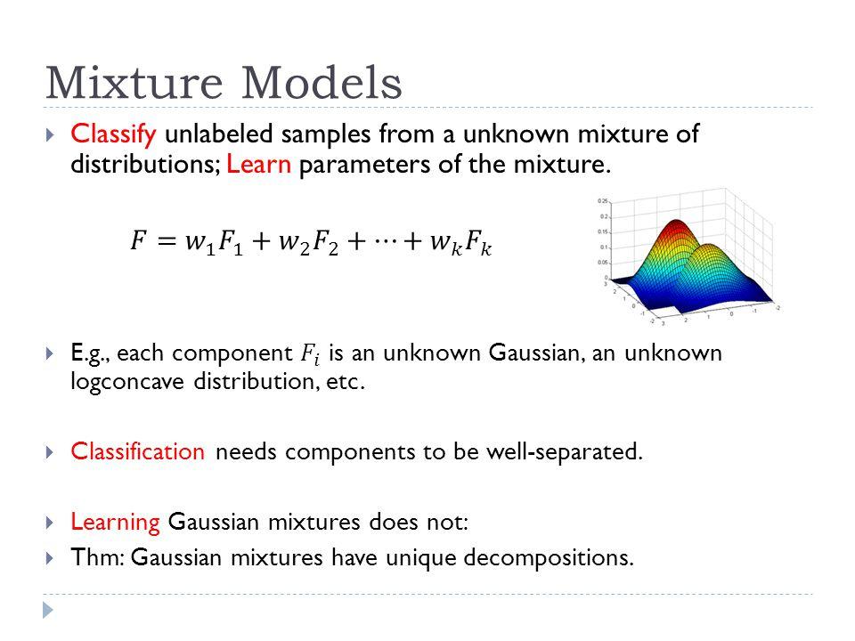 Mixture Models