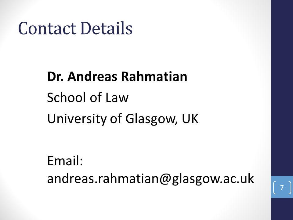 Contact Details Dr.