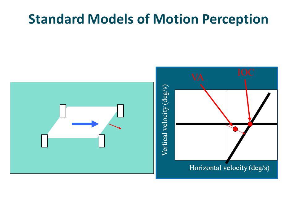 Standard Models of Motion Perception Horizontal velocity (deg/s) Vertical velocity (deg/s) IOC VA