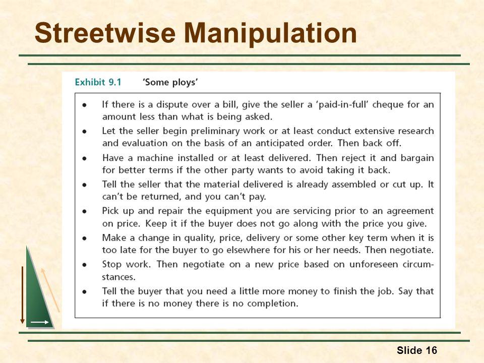Slide 16 Streetwise Manipulation