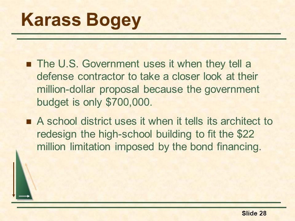 Karass Bogey The U.S.