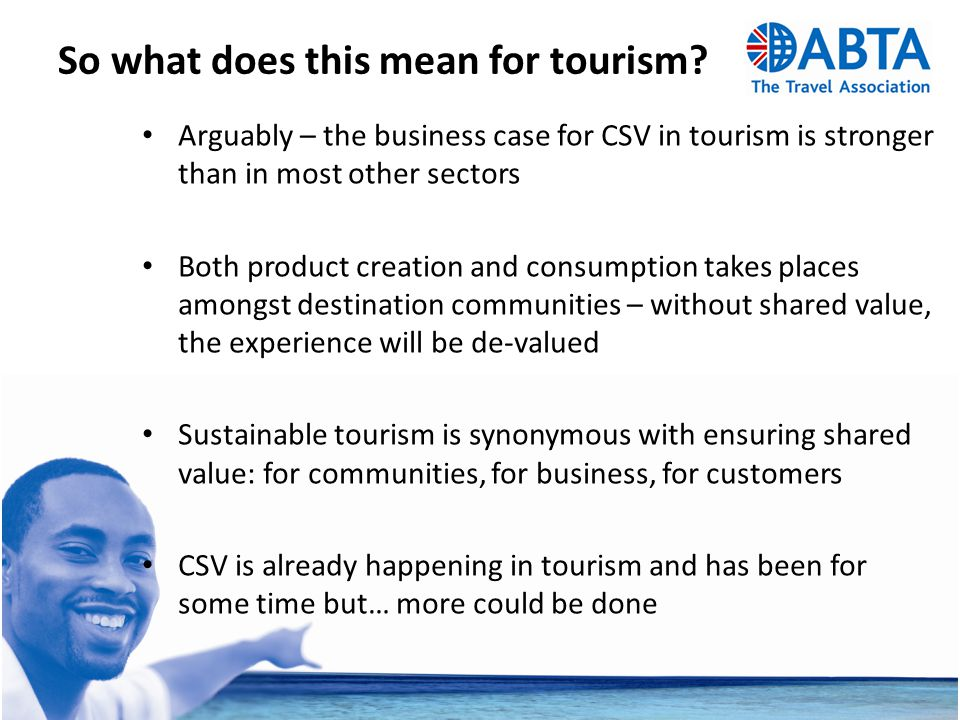 So what does this mean for tourism.