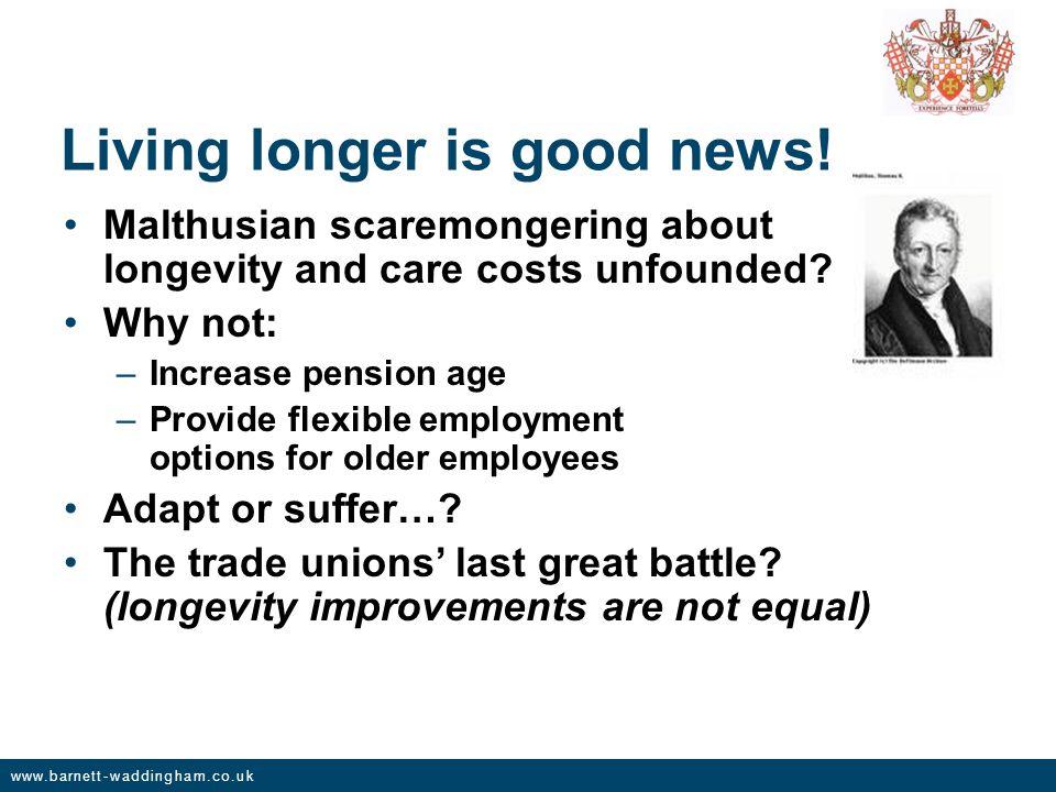 www.barnett-waddingham.co.uk Living longer is good news.