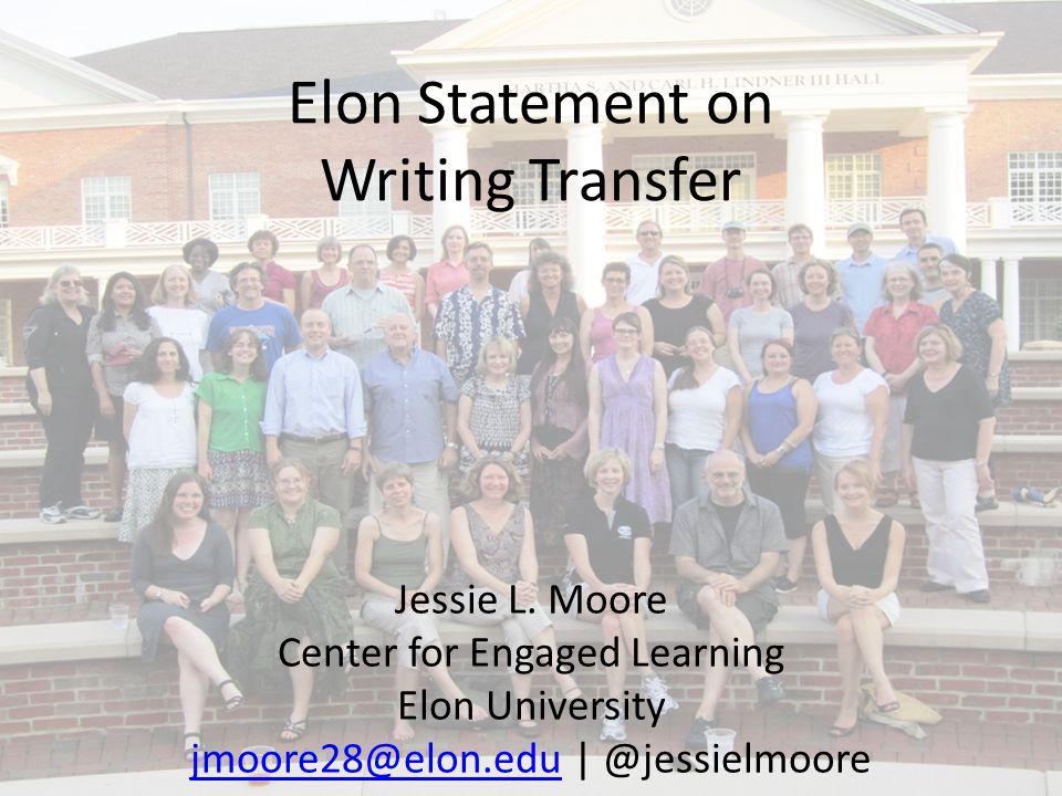 Elon Statement on Writing Transfer Jessie L.