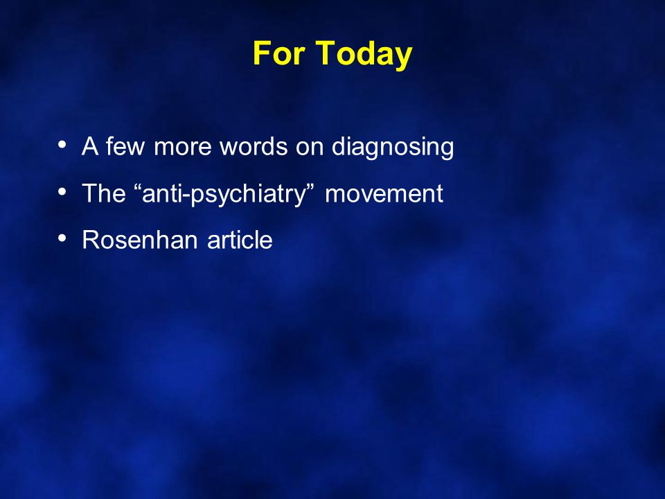 Scientology and the Anti- Psychiatry Movement Is Scientology a gift to psychiatry.