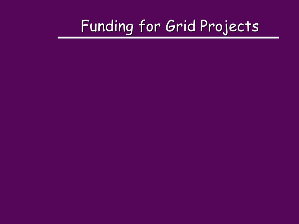 Funding for Grid Projects
