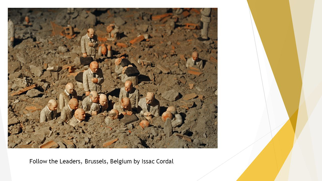 Follow the Leaders, Brussels, Belgium by Issac Cordal