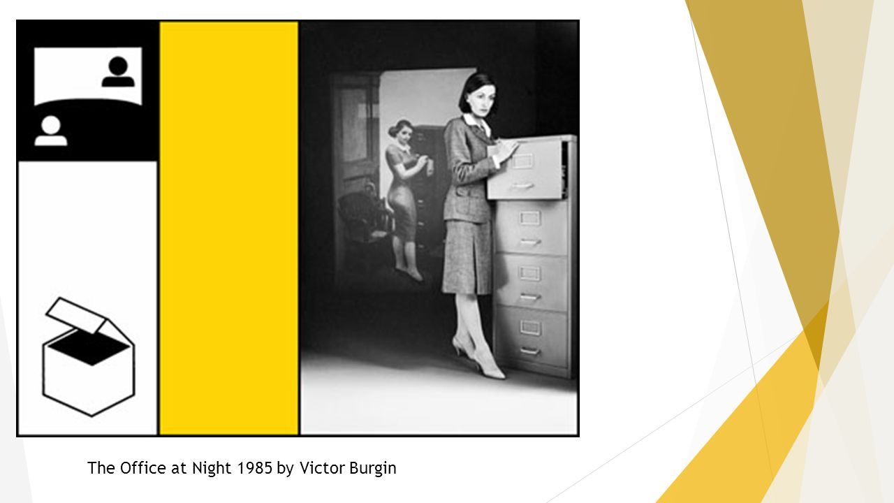 The Office at Night 1985 by Victor Burgin