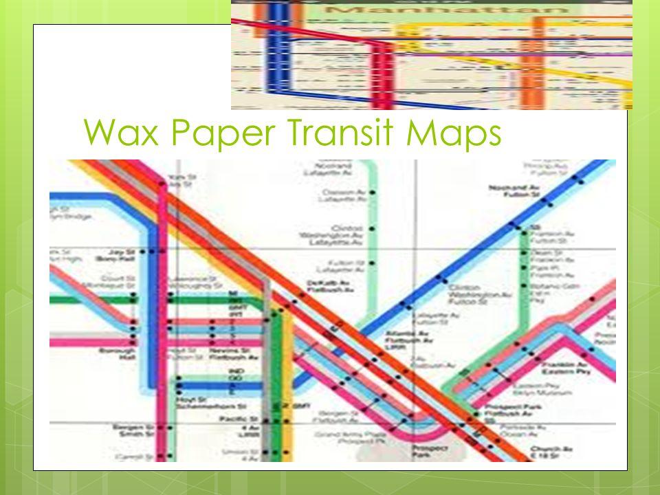 Wax Paper Transit Maps