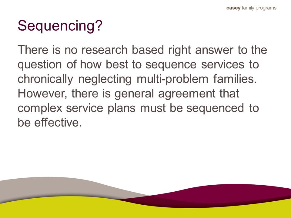 Sequencing.