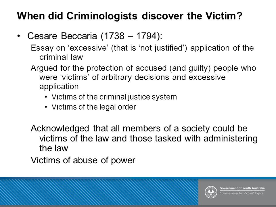 When did Criminologists discover the Victim.