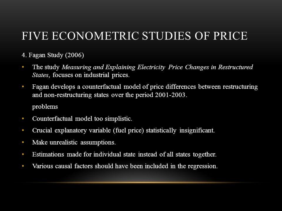 FIVE ECONOMETRIC STUDIES OF PRICE 4.