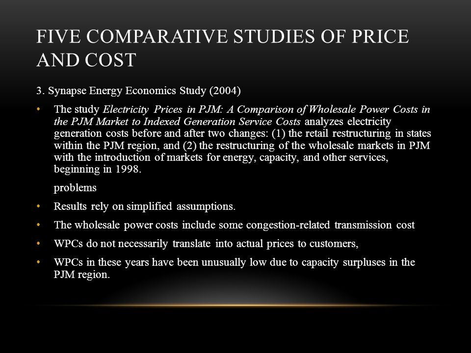 FIVE COMPARATIVE STUDIES OF PRICE AND COST 3.