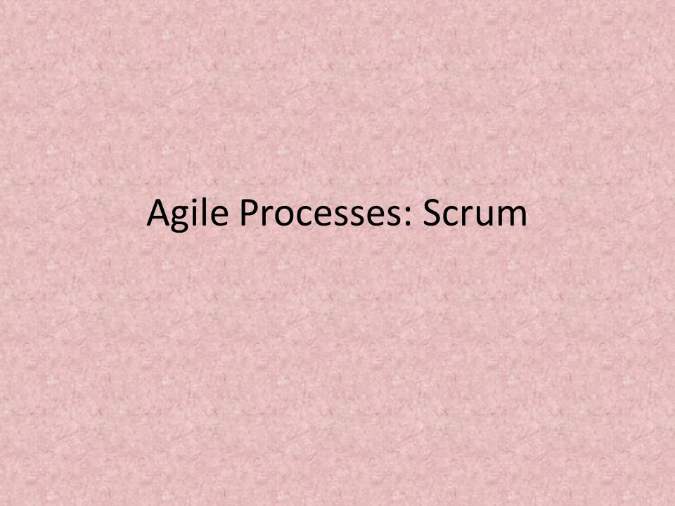 Meetings – The Daily Scrum Each day during the sprint, a project status meeting occurs.