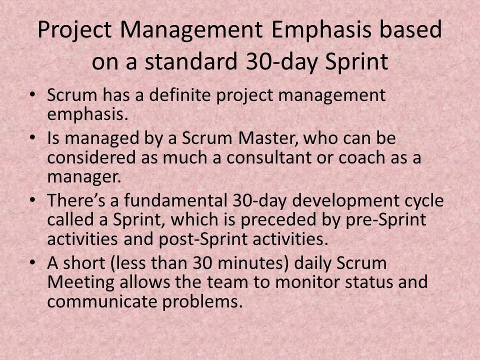 Meetings – Sprint Planning Meeting At the beginning of the sprint cycle (every 7–30 days), a Sprint planning meeting is held.