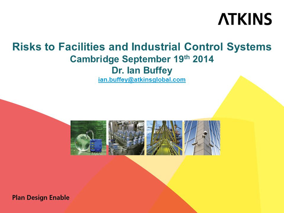 Agenda ● Personal Introduction ● What is an Industrial Control System and why should I care.