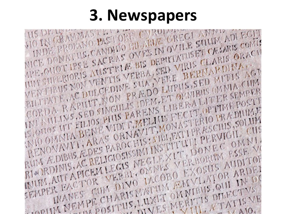 3. Newspapers
