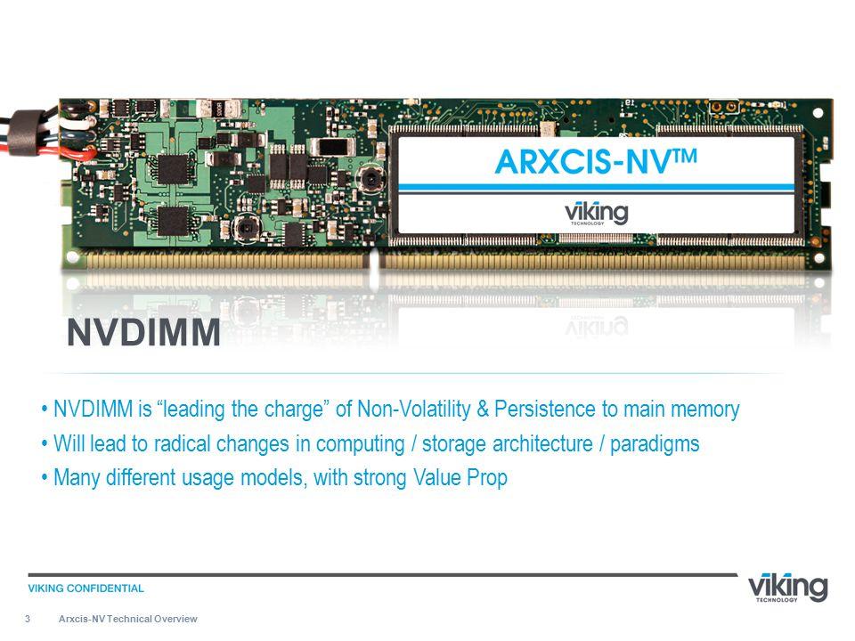 14 ARXCIS-NV TM NVDIMM – HOW IT FUNCTIONS Arxcis-NV Technical Overview