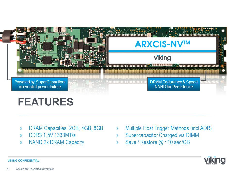 5 Fastest storage tier, 11GB/S, DDR3 DIMM speed & bandwidth more than 300% faster than PCI-E (3.2GB/S).
