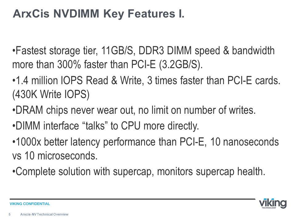 26 » ArxCis-NV™ Is A Storage Device.