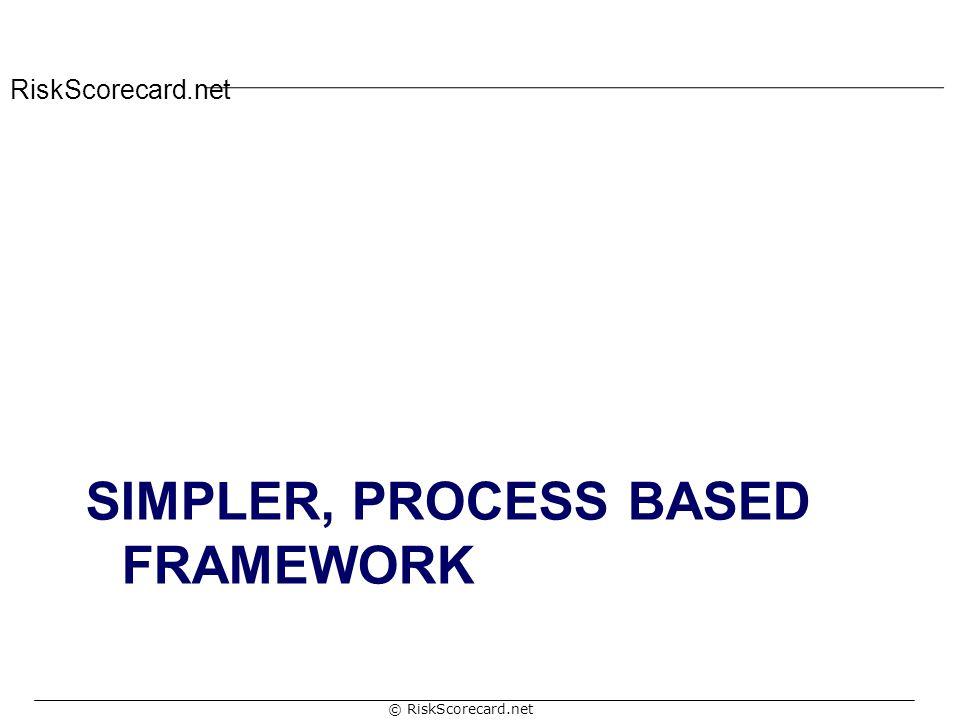 RiskScorecard.net © RiskScorecard.net SIMPLER, PROCESS BASED FRAMEWORK