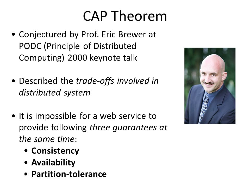 CAP Theorem Conjectured by Prof.