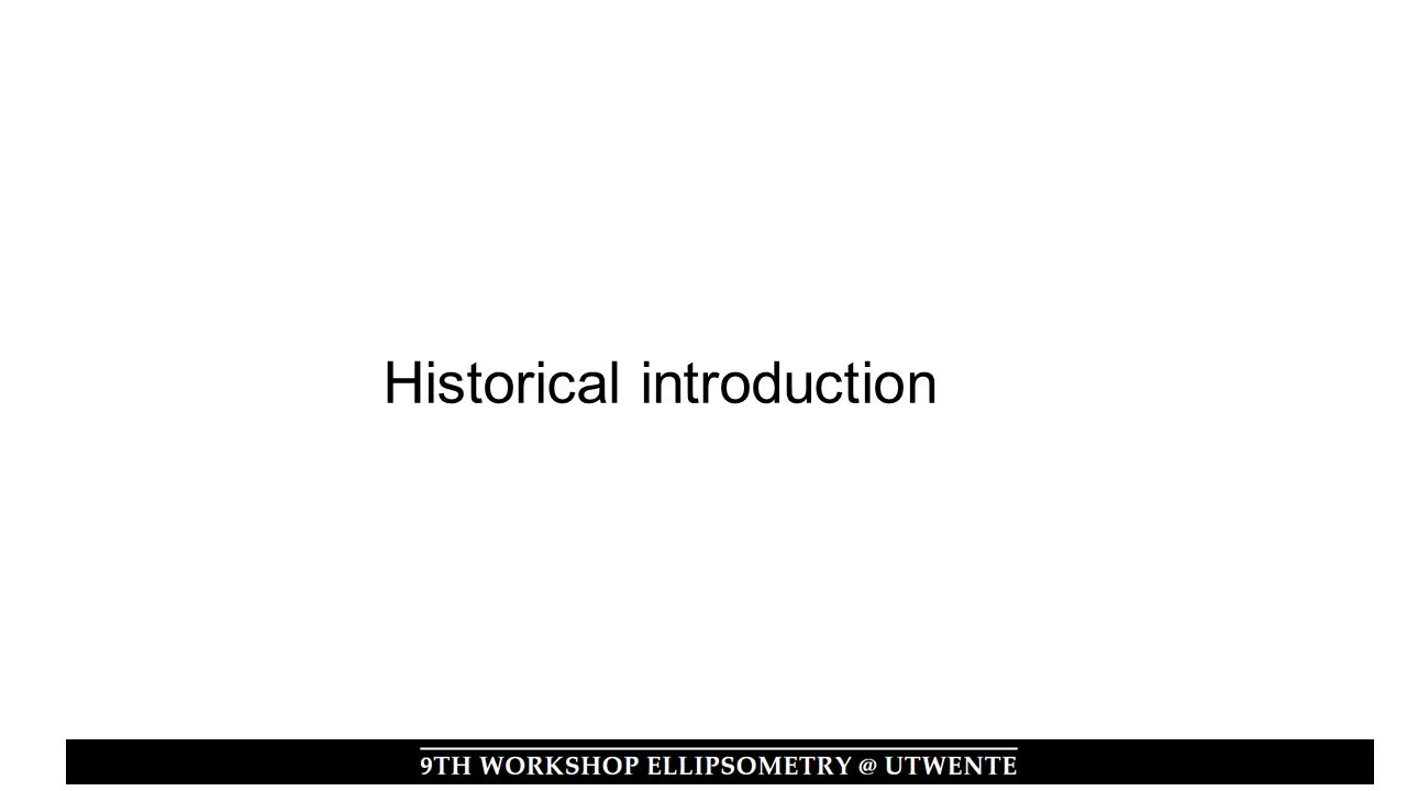 Historical introduction