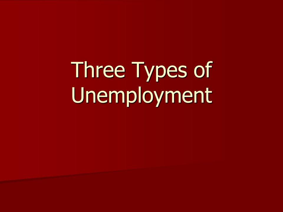 Three Types of Unemployment