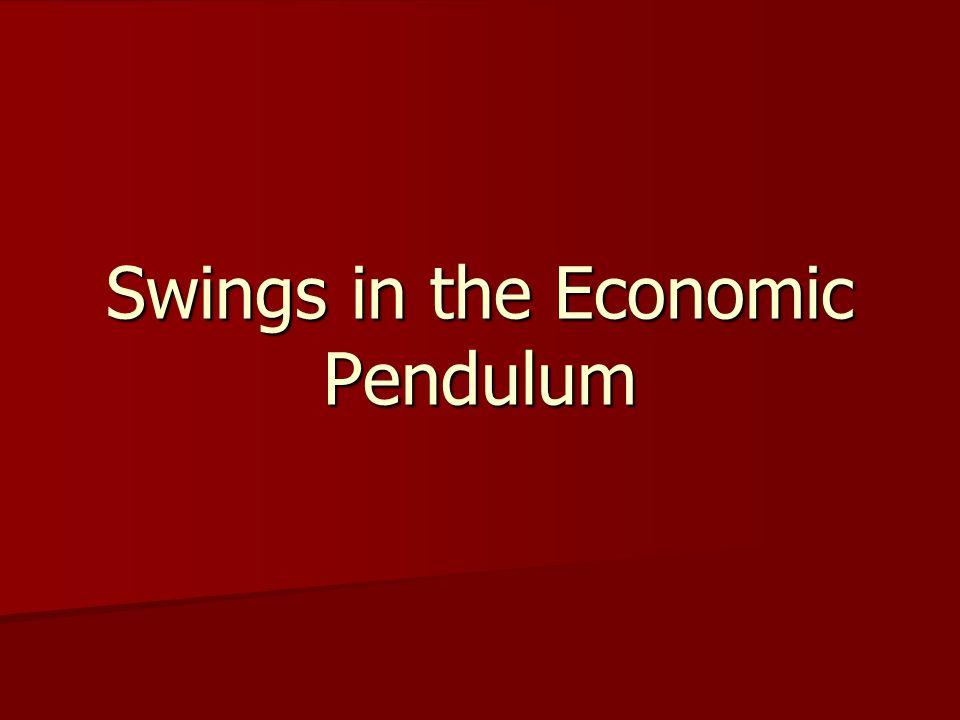 Swings in the Economic Pendulum