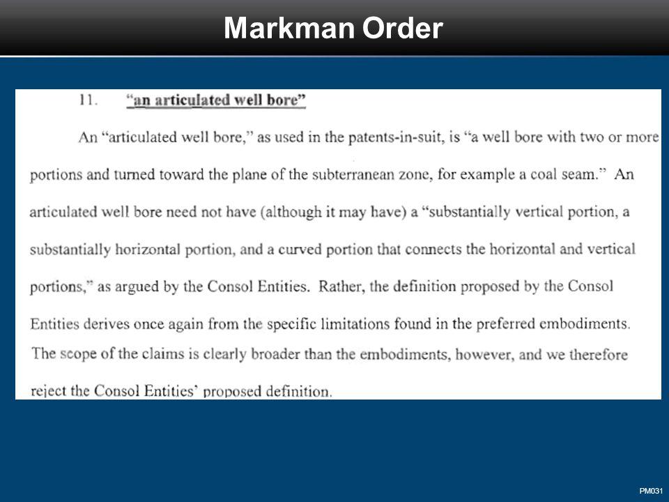 PM031 Markman Order