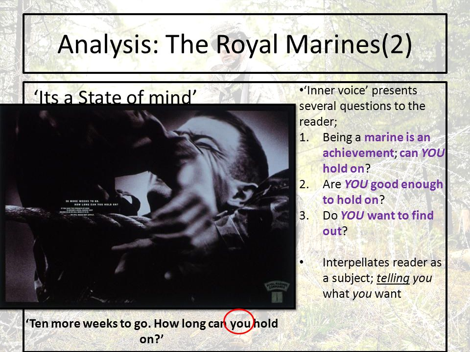 Analysis: The Royal Marines(2) 'Its a State of mind' 'Ten more weeks to go.