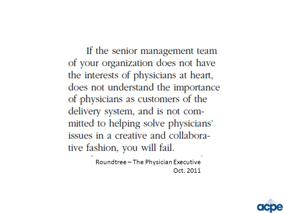 Roundtree – The Physician Executive Oct. 2011