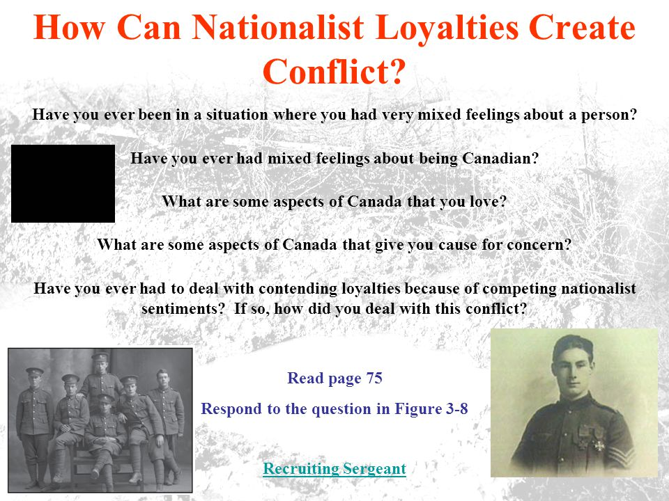 How Can Nationalist Loyalties Create Conflict.